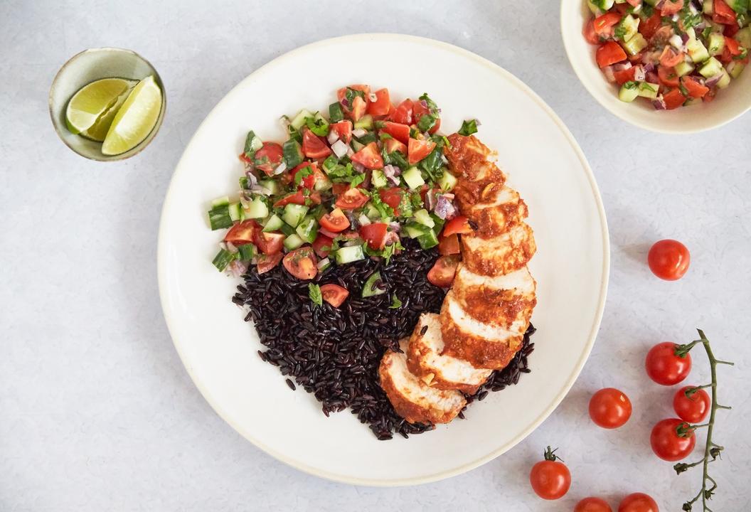 Healthy Chicken Recipe Turkish Chicken Black Rice Choban Salad